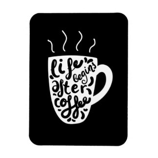 Imán Flexible La vida comienza después de café