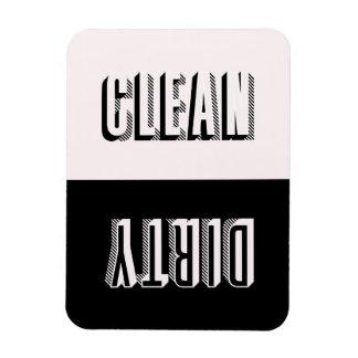 Imán Flexible Lavaplatos moderno de la tipografía del bloque del