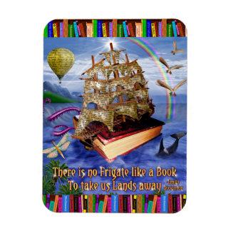 Imán Flexible Lectores caprichosos de la nave del libro de la