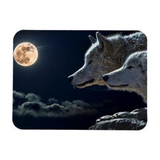 Imán Flexible Lobos del lobo que gritan en el refrigerador Magn