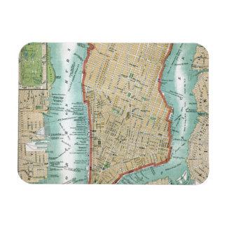 Imán Flexible Mapa antiguo del Lower Manhattan y del Central