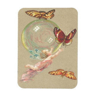 Imán Flexible Mariposas, ángeles y burbuja