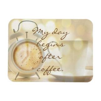 Imán Flexible Mi día comienza después de café