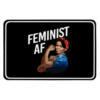 Imán Flexible Michelle Obama - AF feminista - blanco --