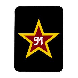 Imán Flexible Monograma de encargo simple de la estrella roja y