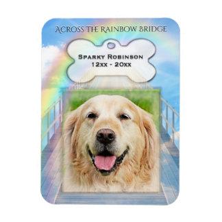 Imán Flexible Monumento del perro del puente del arco iris
