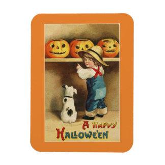 Imán Flexible Muchacho de Halloween del vintage