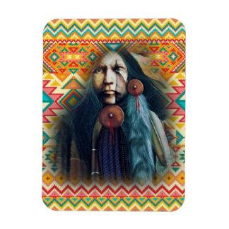 Imán Flexible Nativo americano del sudoeste valiente