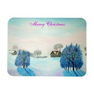 Imán Flexible Navidad suizo del azul del opus