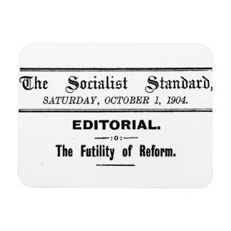 Imán Flexible Negro editorial de octubre del estándar socialista