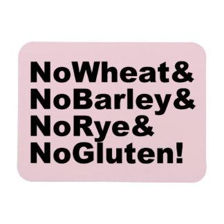 Imán Flexible ¡NoWheat&NoBarley&NoRye&NoGluten! (negro)