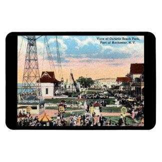 Imán Flexible Parque de atracciones, vintage de Rochester, Nueva