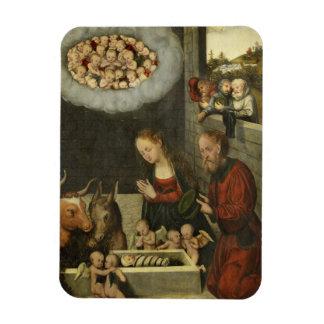 Imán Flexible Pastores que adoran al bebé Jesús por Cranach