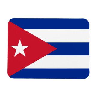 Imán flexible patriótico con la bandera de Cuba