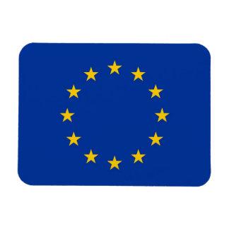 Imán flexible patriótico con la bandera de Europa