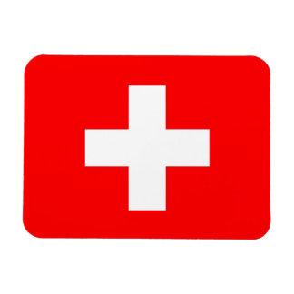 Imán flexible patriótico con la bandera de Suiza