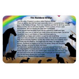 Imán Flexible Poema del puente del arco iris