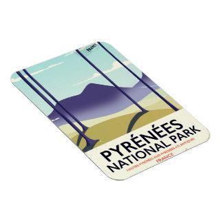 Imán Flexible Poster de Francia del parque nacional de Pyrénées