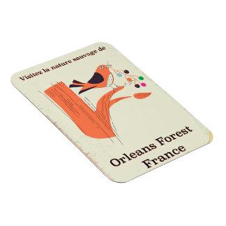 Imán Flexible Poster del viaje de Francia del bosque de Orleans