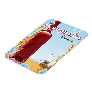 Imán Flexible Poster del viaje de Languedoc Francia