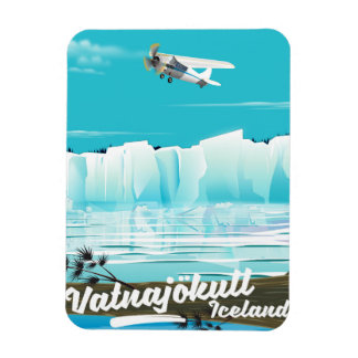 Imán Flexible Poster del viaje de Vatnajökull Islandia
