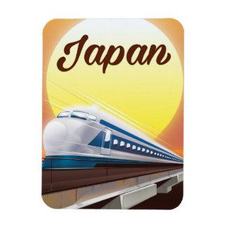 Imán Flexible Poster del viaje del tren de bala de Japón