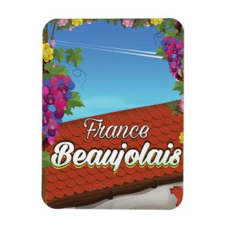 Imán Flexible Poster del viaje del vino de Francia del