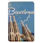 Imán Flexible Poster del viaje del vintage de Barcelona