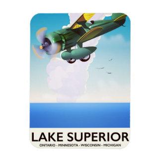 Imán Flexible Poster del viaje del vintage del apoyo del lago