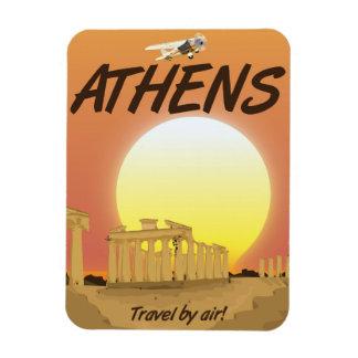 """Imán Flexible Puesta del sol de oro del aire de Atenas """"viaje"""