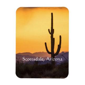 Imán Flexible Puesta del sol de Scottsdale antes de la tormenta