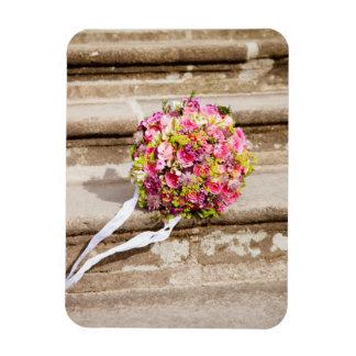 Imán Flexible Ramo floral del boda del rosa y del verde
