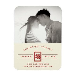 Imán Flexible Reserva china del boda de la felicidad doble roja