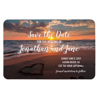 Imán Flexible Reserva de lujo del corazón del boda del océano de