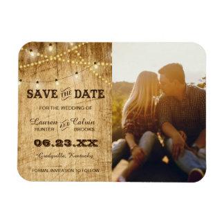 Imán Flexible Reserva del boda del país la fecha con la foto