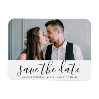 Imán Flexible Reserva moderna de la escritura la foto del boda