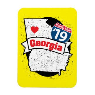 Imán Flexible Roadtrip '19 Georgia - (amarillo/negro) flexmagnet