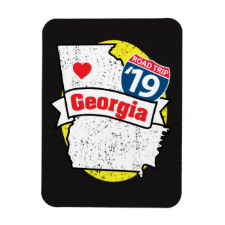 Imán Flexible Roadtrip '19 Georgia - (negro/amarillo) flexmagnet