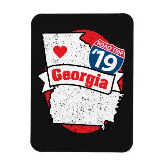 Imán Flexible Roadtrip '19 Georgia - (negro/rojo) flexmagnet