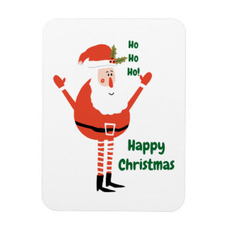 Imán Flexible Santa moderno lindo le desea felices Navidad