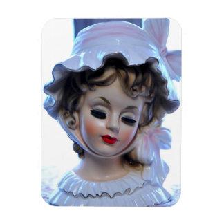 Imán Flexible ¡Señora del Victorian en el florero rizado de la