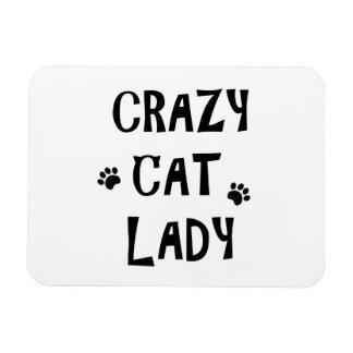 Imán Flexible Señora loca del gato