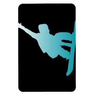 Imán Flexible snowboarder del azul de la pendiente