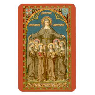 Imán Flexible St. Clare de Assisi y de las monjas (SAU 027)