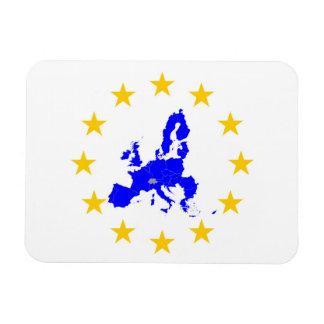 Imán Flexible Tarjeta de la unión Europea con círculo de