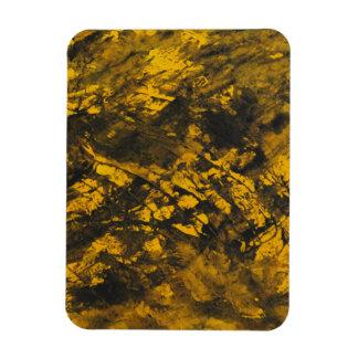 Imán Flexible Tinta negra en fondo amarillo