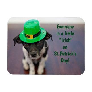 Imán Flexible Un pequeño perrito irlandés