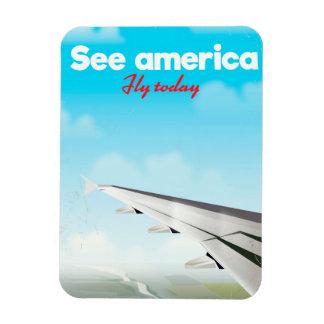 "Imán Flexible Vea América ""volar hoy"" la impresión de las"