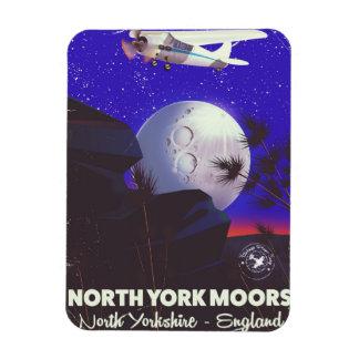 Imán Flexible York del norte amarra el poster del viaje de