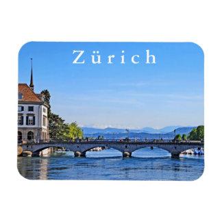 Imán Flexible Zurich. Limmat. Ayuntamiento y puente